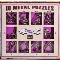 Набор из 10 металлических головоломок фиолетовый