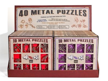 Настольный дисплей с наборами популярных головоломок EUREKA