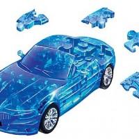 3Д Пазл БМВ Зет 4, синий, прозрачный / 3D Puzzle BMW Z4 blue, clear