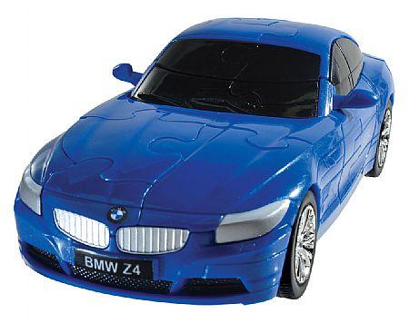 3Д Пазл БМВ Зет 4, синий, матовый / 3D Puzzle BMW Z4 blue, solid