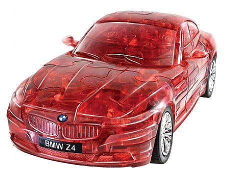 3Д Пазл БМВ Зет 4, красный, прозрачный / 3D Puzzle BMW Z4 red, clear