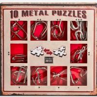Набор из 10 металлических головоломок красный