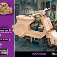 Деревянный конструктор_3Д модель Скутер