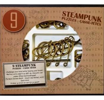 Набор из 9 Стимпанк головоломок коричневый